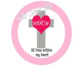 Girls Easter Cross - He Lives Within My Heart