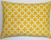 Yellow Pillow.SALE.CLEARANCE.Accent Pillow.Free Shipping.12x16 or 12x18 inch.Decorator Pillow. Cover - ElemenOPillows