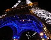 PARIS in Sparkling BLUE   8 x 10 photograph