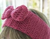 Pretty Pink Bow Headband