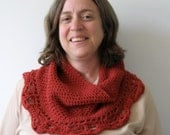 Red Crocheted Cowl