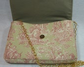 Clutch Bag Purse Pocketbook Toile