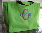 Personalized Tote Bag - Bridesmaid Tote - Monogrammed Tote Bag