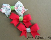 Set of 3 Spring Mini Sparkle Bows
