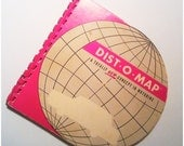 Vintage 1964 Mileage Map of USA American road trip calculator
