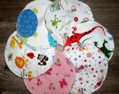 handsewnbyme 6 Sets Of Contour Nursing Pads In Fun  Prints WITHOUT  PUL Layer