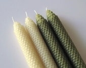 Moss Green Beeswax Candles - mcandles