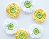 Crochet Flowers - Set of 6 - annemariesbreiblog