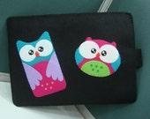 Felt Kindle Case - Amazon Fire Case - Kindle Case - Kindle Cover Case - Handmade Felt Case - OWL COUPLE CASE (custom case)