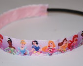 Disney Princesses Thin Non Slip Chickband 7/8 Inch