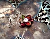 Kanzashi Flower Pendant - Paris in Spring - MmeBsBoutique