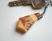 Wood mosaic keychain-Men accessories-For him,for her-Rustic,natur,wood-Juniper,oak,ash tree