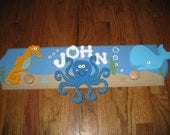 Custom Handpainted Under the Sea Wall Hook Hanger