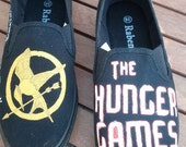 Hunger Games inspired custom painted shoes