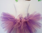 Tutu Skirt Rapunzel Inspired Sewn Purple Pink Girls Costume