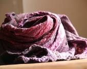 nuno felted purple cobweb wrap celebrate spring - Vaszilka