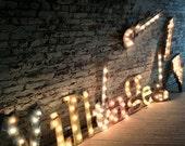 light fixture marquee letters custom listing cinema 15 tall - WestVintageTradingCo