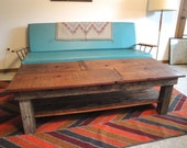 SAWTOOTH Custom Handmade Reclaimed Wood Coffee Table with shelf sample