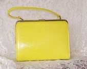 VINTAGE  Bright Yellow JR Handbag - PursonalBaggage2