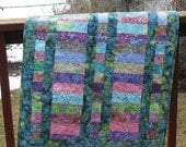 Quilt Free Shipping Baby Shower Gift Boy Girl Crib Batiks Hoffman - Mountainquiltworks