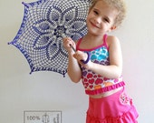 "9"" Mini Purple Violet Lace Crochet  UMBRELLA PARASOL, Mothers Day gift - kolus79"
