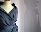 wrap dress/tunic in grey by FedRaDD on Etsy
