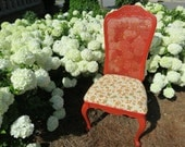 French Country Floral Accent Chair: ELISE - lemonAIDER