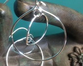 Sterling Double Hoop Earrings