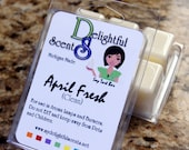 April Fresh a downy dupe scented soy tart bars