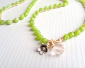 boho bracelet. boho necklace bohemian glass crochet beaded bracelet wrap 4x Wrap bracelet,
