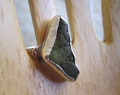 Green Seaglass & Sterling Ring Handmade etsy metal jewelry - JudithGayleDesigns