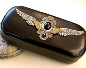 Gothic Angel Wings - Large Eye Glass Case