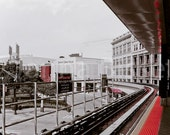 Detroit People Mover Train Tracks- Fine Art Urban Photograph - lilacpopphotography
