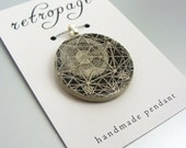 Pendant, Grafica, Handmade Decoupaged, FREE SHIPPING - retropage