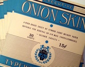 Onionskin Typewriter Paper ALMOND (vintage) 30 sheets per pack - typeBtypewriters