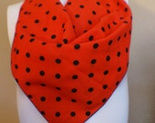 Red With Black Polka Dot Scarf - QsVintage