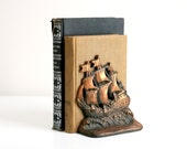 Vintage Ship Bookends - WiseApple