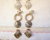 VINTAGE Clip-On Screw Earrings -4 Pairs