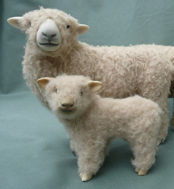 Babydoll Southdown Ewe with Lamb