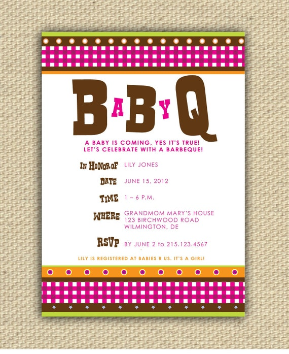 Baby BBQ Shower Invitation - BaByQ