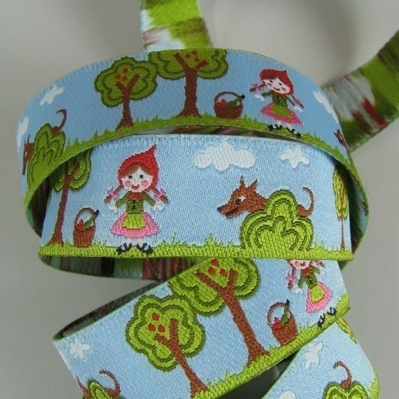 Little Red Riding Hood Ribbon - Farbenmix Ribbon - 1 yard