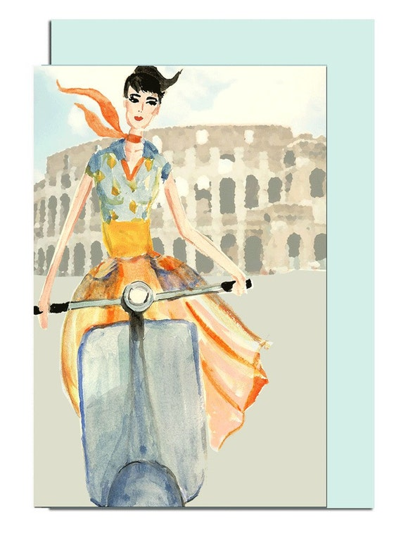 Roman Holiday Greeting Card