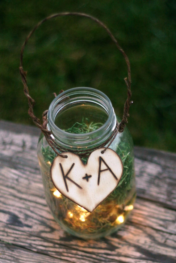 Rustic Wedding Decor Vintage Wedding Decorations Firefly Jar Lantern
