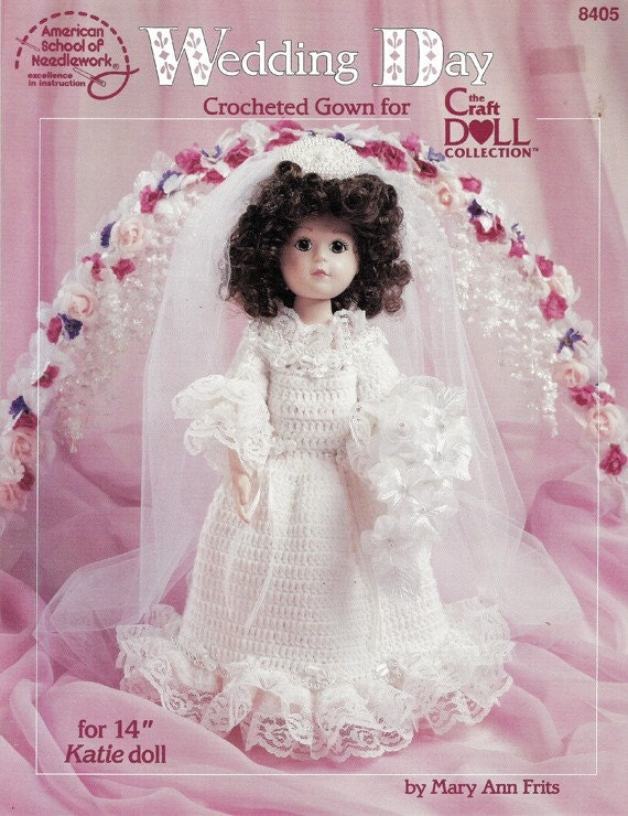 Crochet Wedding Dress for 14 inch Doll