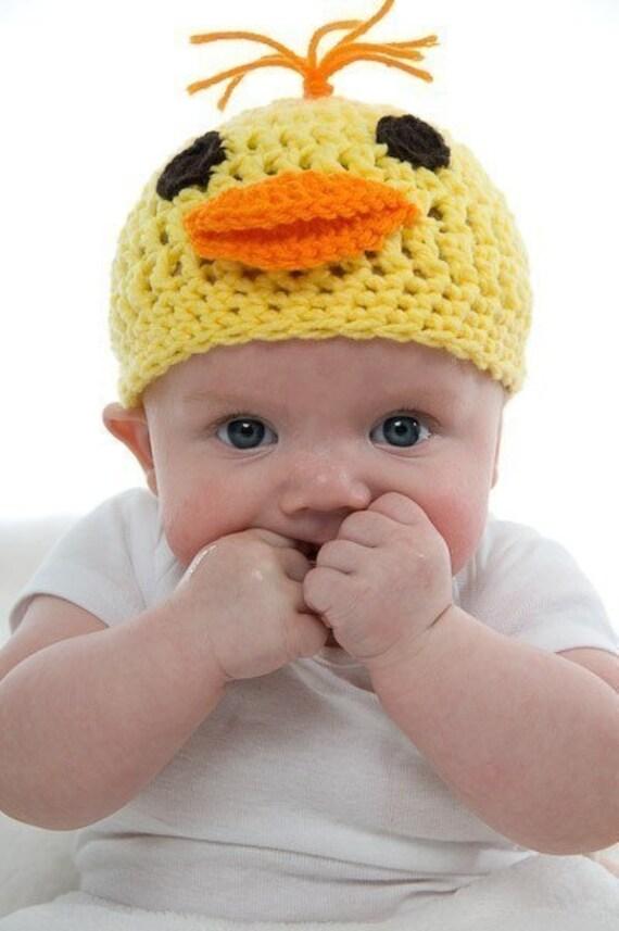 Baby Duck Crochet Hat Pattern