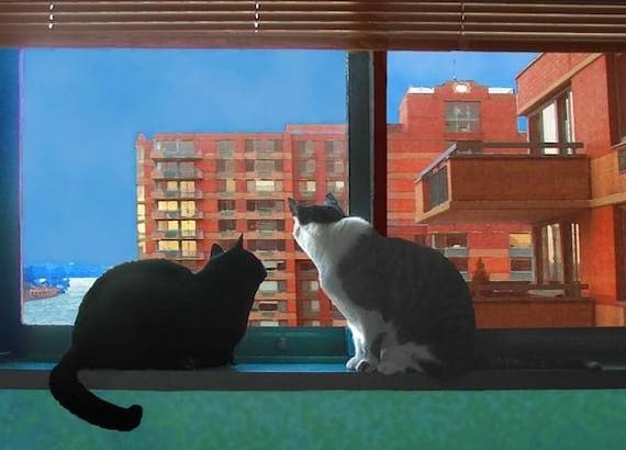 City Cats Cat Art Print