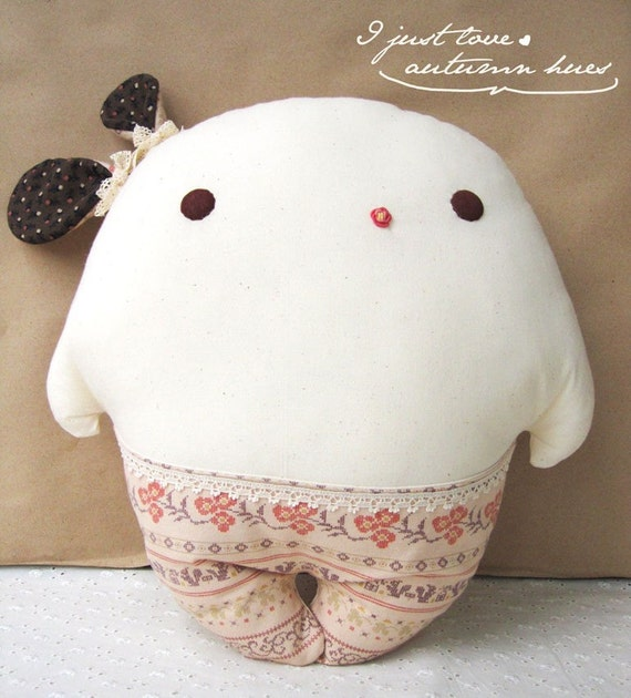 Autumn Hue Dancing Carrot Bunnie Pillow