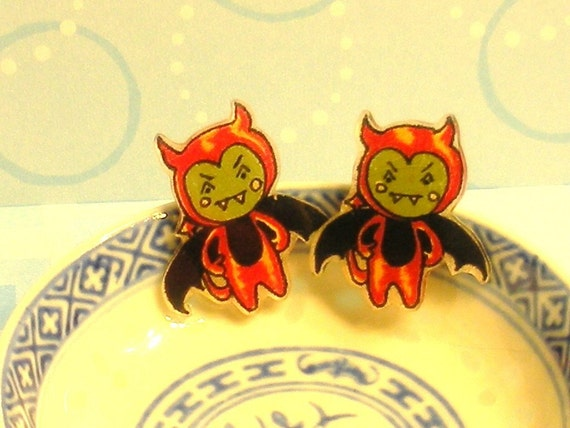You Little Devil Post Earrings