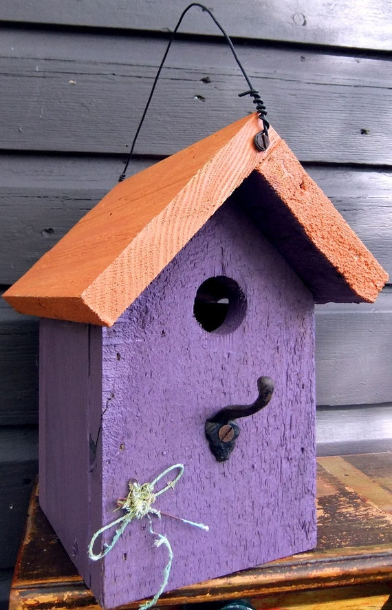 CATSKILL DRAGONFLY Whimsical Reclaimed Wood Bird House
