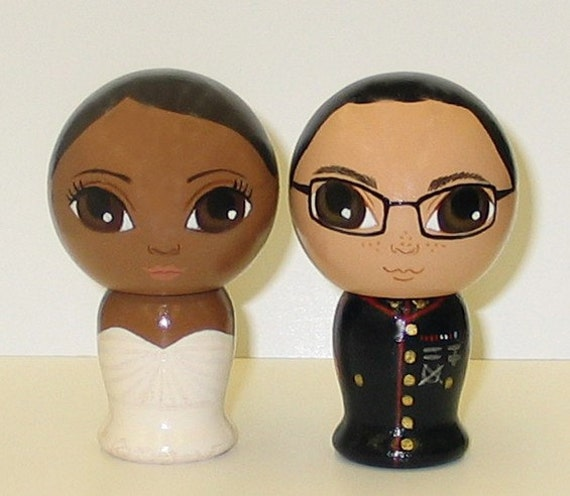 Custom Military Wedding Cake Toppers From dandelionland